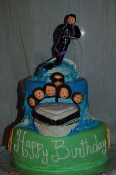water ski cake
