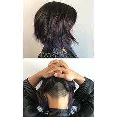 Steel purple ombre and undercut for the lovely vikkie! #hairbykalli #hair #hairjoi #hairbrained #hairnerd #hairstylist #vancouver #vancouverhair #vancouverhairstylist #yvr #mainstreet #mainstreethairstylist #otf #otfmain #purple #steelpurple #ombre #undercut #joico #joicocolor #joicocanada #joicointensity #passion #lovemyjob