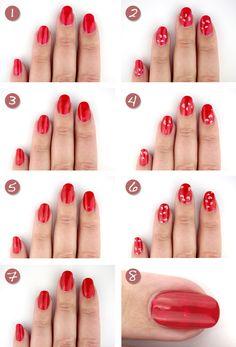 Nail art tutorial heart (transparent) #nails #NailArt #NailDesigns