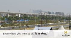 Everywhere you want to be, in no time! #TheHemisphere  #VillasInGreaterNoida