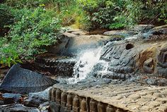 Kbal Spean near Angkor, Cambodia / stone carvings are mainly in the river.