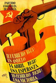 Stalin´s Spain: Civil war poster of the Stalinist Partido Comunista de Espana (Communist Party of Spain): more interesting in defeating Communist Propaganda, Propaganda Art, Political Posters, Political Art, Party Poster, Poster On, Poster Ideas, Spanish War, Civil War Art