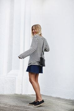 {Stripes and navy.}