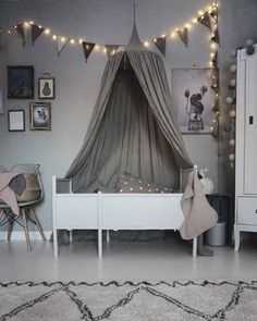 A gorgeous home in grey tones. We are big fans of grey for a kid's room but grey works so well for the entire home. It's a calming colour that oozes style . Girl Room, Girls Bedroom, Deco Kids, Kids Room Design, Fashion Room, Of Wallpaper, My New Room, Colorful Interiors, Room Inspiration