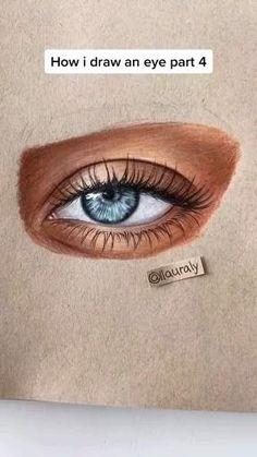 Art Drawings Beautiful, Art Drawings Sketches Simple, Pencil Art Drawings, Realistic Drawings, Colorful Drawings, Cool Drawings, Color Pencil Art, Eye Art, Art Sketchbook