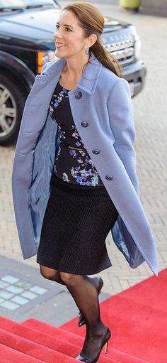 Beautiful lavender coat....lovely ensemble...