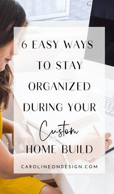 There are many moving parts when building a custom home. However, the whole process can be MUCH less overwhelming if you feel organized and in control! Here, I'll lay out an actionable plan for how to stay organized during your custom home build.