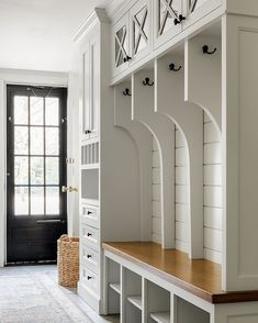 Smart Mudroom Ideas to Enhance Your Home MUDROOM IDEAS The mudroom is a very crucial part of your house. Mudroom allows you to keep your entire home clean and tidy. Mud room or you can call Mudroom Storage Bench, Mudroom Laundry Room, Mudroom Cubbies, Mudroom Cabinets, Garage Storage, Gray Cabinets, Entryway Storage, Cubby Storage, Laundry Area