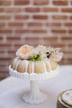 Pretty little bundt cake. Photo by Feather & Twine Photography. www.wedsociety.com #wedding #cake