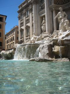 Trevi Fountains, Rome Italy...I have a pic of my kids dipping their hands in this fountain!! It's beautiful..