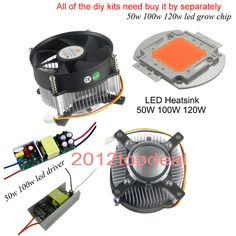 20-100w high power led heatsink led grow chip DC 12V led cooling fan led kit | Home & Garden, Lamps, Lighting & Ceiling Fans, Light Bulbs | eBay!