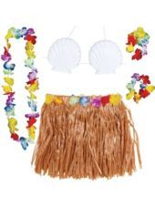 Adult Natural Hula Skirt Kit 5pc - Hula Skirts - Luau Theme Party - Theme Parties - Categories - Party City