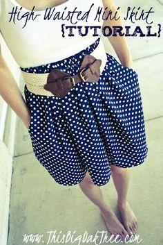 High waist skirt tutorial