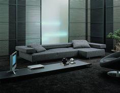 Minimal, grey interior design with the Arketipo Loft 4 sofa _