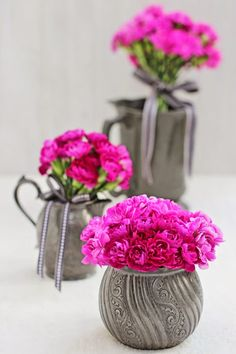 A Bunch for the Weekend-# 44-Hot Pink Spray Carnations-Ingrid Henningsson-Of Spring and Summer