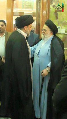 السيد القائد مقتدى الصدر اعزه الله مع السيد حسين هادي الصدر