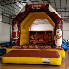 Inflatable santa clause bounce