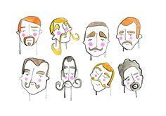 Moustache Men.