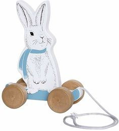 Pull Along Rabbit Bloomingville Kids Children- A large selection of Toys and Hobbies on Smallable, the Family Concept Store - More than 600 brands. Rabbit Toys, Bunny Toys, Boo Boo Bunny, Baby's First Easter Basket, Skateboard, First Birthday Presents, Pull Along Toys, Modern Nursery Decor, Pull Toy