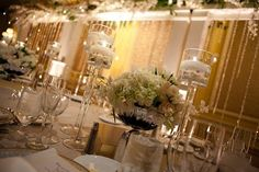 How to make your wedding bling - ideas and pix? :  wedding bling bling wedding winter wonderland Headtable