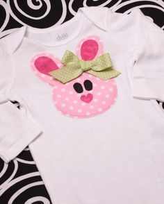 Boutique Belle the Bunny Easter Applique Tee by MineAllMineDesigns, $20.00