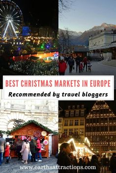 Best Christmas Markets in Europe recommended by travel bloggers, #ChristmasMarket, #Europe, #Christmas