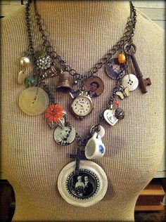 The Family Jewels Charm Necklace by MyValentineJewels on Etsy, $75.00