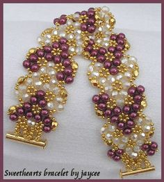 I have made this twice in different colors-sweetheart bracelet by Jacee.
