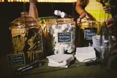 Photography: Caroline Ghetes - carolineghetes.com.  Canyon Kitchen at Lonesome Valley.  S'mores Bar