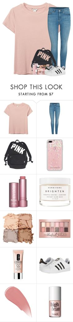 """rtd rtd rtd rtd lot to go over"" by katie-1111 ❤ liked on Polyvore featuring Monki, Victoria's Secret, Rebecca Minkoff, Herbivore, Illamasqua, Maybelline, Clinique, adidas, Burberry and Benefit"