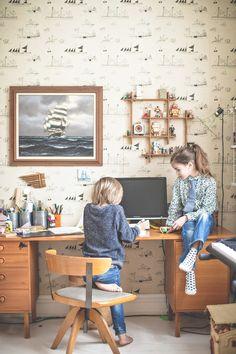 Mokkasin - Lovely Life - page 8 Sailor Room, Kid Spaces, Work Spaces, My Art Studio, Amazing Spaces, Jolie Photo, Kidsroom, Baby Kids, Interior Decorating