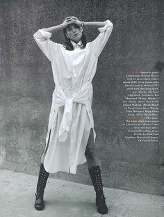 """mega white shirt (""""a white shirt"""" christy turlington for harper's bazaar august 1993)"""