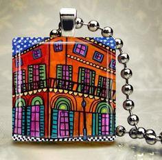 New Orleans Jewelry  Bourbon street Jewelry by HeatherGallerArt, $28.00