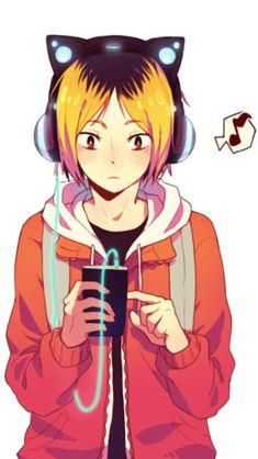 Kuroko no basket and Haikyuu one shots! - Kenma x Reader - Wattpad Anime Boys, Manga Anime, Got Anime, Manga Haikyuu, Art Manga, Haikyuu Fanart, Anime Art, Kenma Kozume, Haikyuu Nekoma