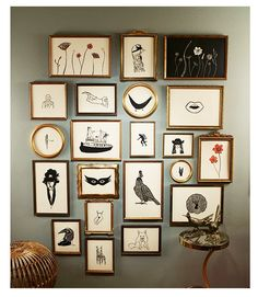 konfetti-- love the grouping and simple prints Wall Collage, Frames On Wall, Wall Art, Inspiration Wall, New Wall, Picture Wall, Decoration, Kids Room, Sweet Home