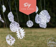 Neulas y copos de nieve de papel, una decoración sencilla y efectiva   De mi casa ¡al mundo!