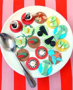 Edible Peter Pan Cupcake toppers Deluxe Neverland Set - Peter Pan cupcake - Fondant cake decorations  (DS01) (24 pieces)