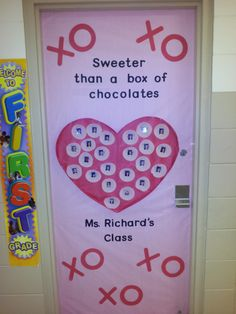 Valentines Door! Sweeter than a box of Chocolate!