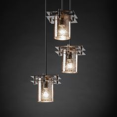 "Justice Design FSN-8166 Fusion™ Artisan Glass 6.5"" Wide Multi Pendant Lighting - JUS-FSN-8166 $420"