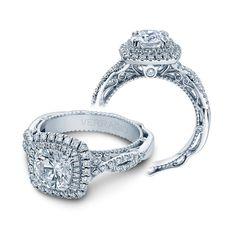 Venetian Double Halo Engagement Ring