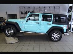 Be mine is perhaps getting a jeep wrangler and Ima paint it Tiffany blue leah Auto Jeep, Jeep Jk, Jeep Truck, Bronco Truck, Wrangler Jeep, Jeep Wrangler Unlimited, Jeep Wranglers, Jeep Wrangler Colors, Classic Cars