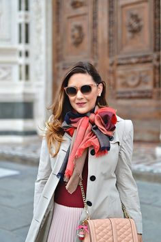 Outfit: Burgundy & Blush