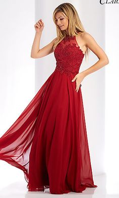 Shop prom dresses and long gowns for prom at Simply Dresses. Floor-length evening dresses, prom gowns, short prom dresses, and long formal dresses for prom. Long Chiffon Skirt, Red Chiffon, Chiffon Dress, Lace Dress, Halter Gown, Halter Neck, Dress Shoes, Shoes Heels, Formal Evening Dresses