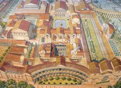 Italy - Roma (Rome) - View of the Palace of Domitian, to the circus