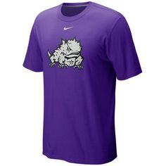 Nike Horned Frogs Classic Logo T-Shirt - Purple