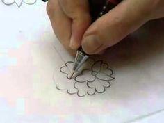 "Tezhip ✿⊱╮ ""Yaprak, salyangoz"" - YouTube Persian Calligraphy, Calligraphy Art, Islamic Art Pattern, Pattern Art, Persian Motifs, Arabic Art, Watercolor Cards, Zentangle, Floral Design"