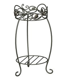 Look at this #zulilyfind! Scroll & Ivy Steel Two-Tier Plant Stand by Panacea Products #zulilyfinds