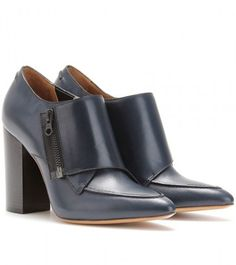 Delia Leather Ankle Boots