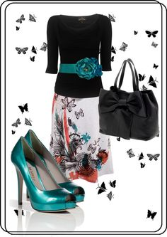 """Butterflies."" by december-baby ❤ liked on Polyvore"