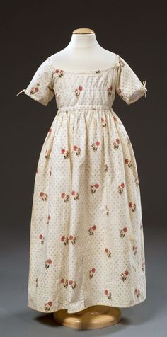 The DAR Museum.  Accession Number 2006.35   Gown for a little girl dated 1780-90.
